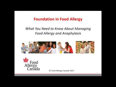 Foundation in Food Allergy what you need to know about managing food allergy and anaphylaxis