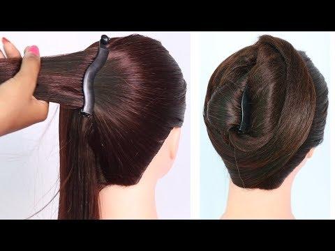 easy juda hairstyle using banana clutcher || college girl hairstyle || simple hairstyle || hairstyle thumbnail
