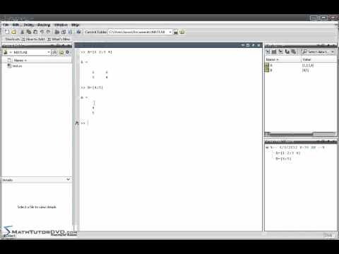 Matlab Essential Skills Sect 34 Solving Systems of Linear Equations