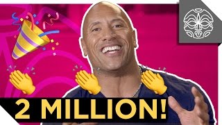 The Rock Thanks You For 2 MILLION SUBSCRIBERS! thumbnail
