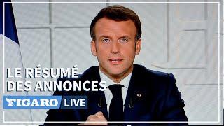 🔴 Confinement, écoles fermées, vaccins... 5 ANNONCES d'Emmanuel Macron à retenir