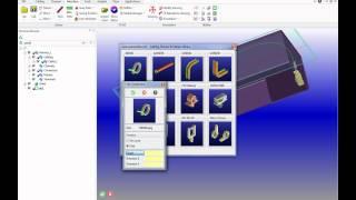 Creo Elements Direct/Cabling:  Проводка кабеля от разъема к разъему