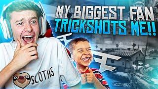 MY BIGGEST FAN TRICKSHOTS ME!!