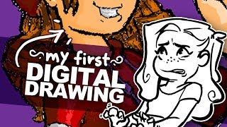 WHAT MY DIGITAL ART USED TO LOOK LIKE | Redrawing My First Digital Illustration | 9 Years Later