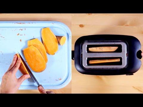 Süßkartoffeln aus dem Toaster