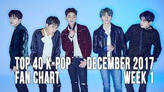 Top 40 K-Pop Songs Chart - December 2017 Week 1 Fan Chart