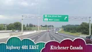 highway 401 east Kitchener Canada