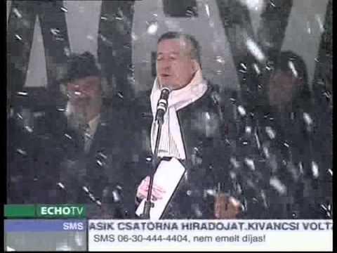 Magyar Hírlap szimpátiatüntetés 2009.02.13. péntek (részlet)