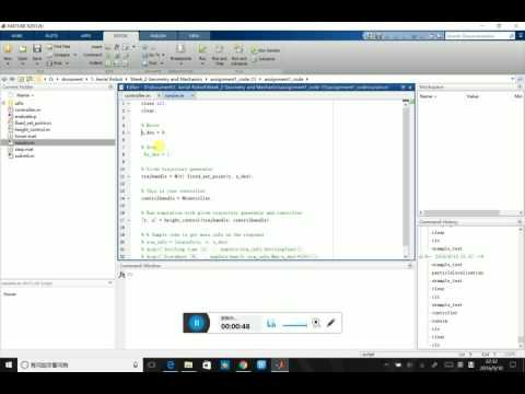 CourseraRobotics_Aerial Robot_1D Quadrotor Simulator and PD Controller