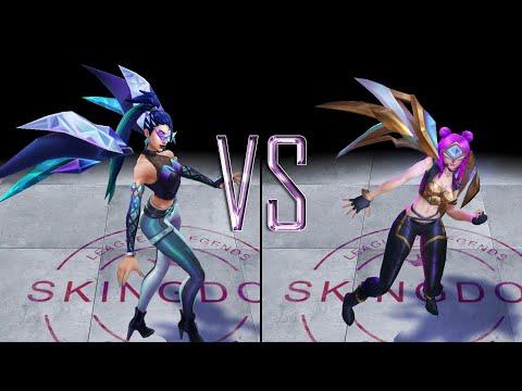 KDA ALL OUT KaiSa vs KDA KaiSa Skin Comparison Spotlight