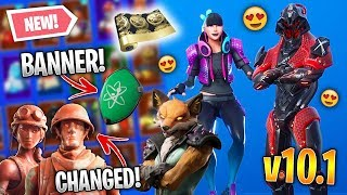*NEW* All Fortnite v10.1 LEAKED SKINS & EMOTES! (Starter Pack, Banner Shield, Fox, Oppressor) *BIG*
