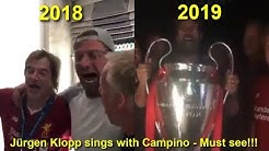 Jürgen Klopp Sings With Campino After Champion League Final 2018 AND 2019