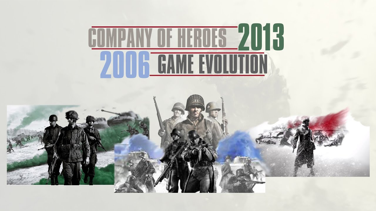 Company Of Heroes Game Evolution 2006 2013 Youtube