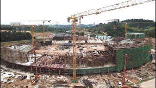 Proses Pembinaan Stadium Sultan Ibrahim [Stadium JDT Baharu]