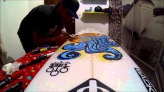 Surfboard Paint / Pintura em prancha de surf