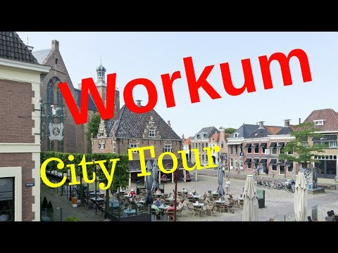 Workum (Warkum), Friesland (Fryslân) The Netherlands (City Tour) Walking and Cycling.. GoPro