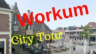 Workum (Warkum), Friesland (Fryslân) The Netherlands (City Tour) Walking and Cycling.. GoPro