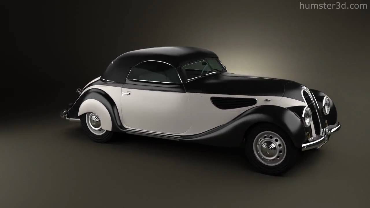BMW 327 cabriolet 1937 by 3D model store Humster3D.com - YouTube