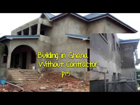 Building In Ghana Pt 5 // Plastering finally done