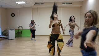 фрагмент урока по Импровизации в Онлайн-школе восточного танца