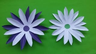 DIY : How to make DIY paper flowers (sun flower) | Home decorating flowers making tutorial