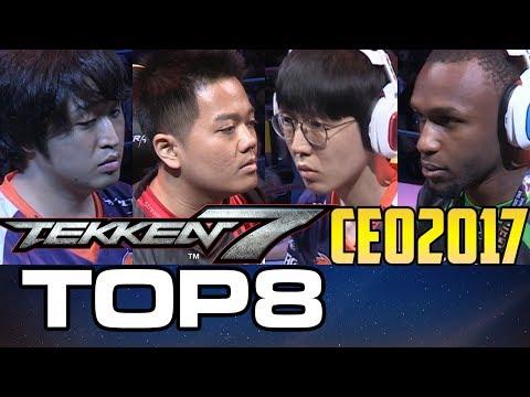 CEO 2017 TEKKEN 7 TOP 8 (TIMESTAMP) JDCR SAINT ANAKIN SPEEDKICKS FUKO FAB RIP POKCHOP 鉄拳7FR