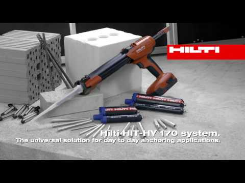 INTRODUCING the Hilti HIT-HY 170 chemical anchor for