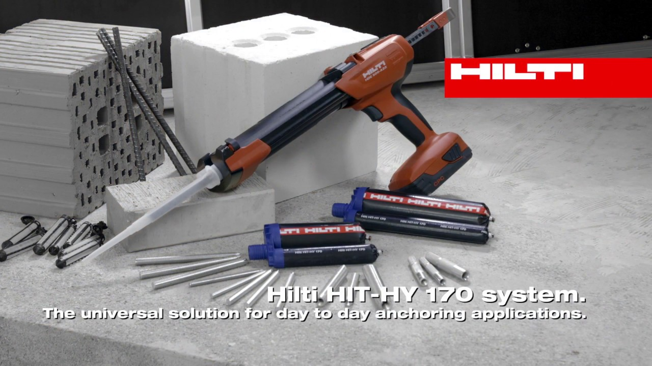 INTRODUCING the Hilti HIT-HY 170 chemical anchor for concrete and masonry