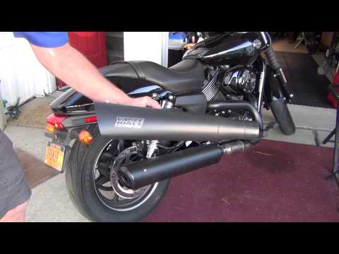 2014 hd iron 883 stock sound vs street cannon exhaust. Black Bedroom Furniture Sets. Home Design Ideas