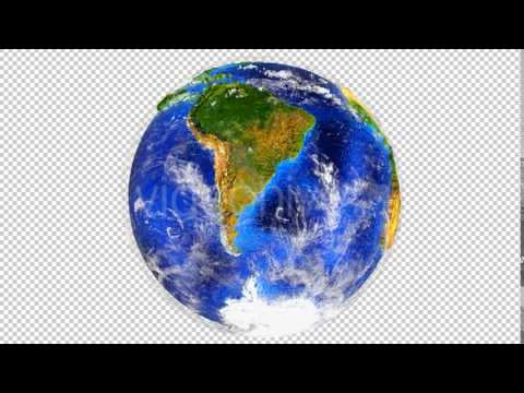 3D Globe with Extruded Continents Southern Hemisphere Motion Graphics