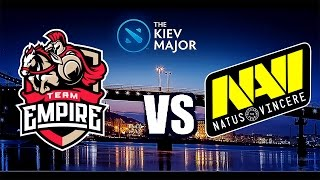 Navi vs Team Empire LIVE [Game 2] [BO3] [THE KIEV MAJOR QUALIFICATION] Team Empire  VS Navi LIVE
