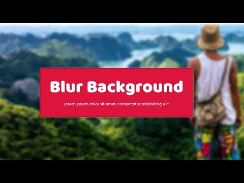 How to blur background image using css | Tutorial for Beginners