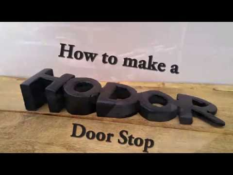 Probably the most creative door stop EVER! // How to