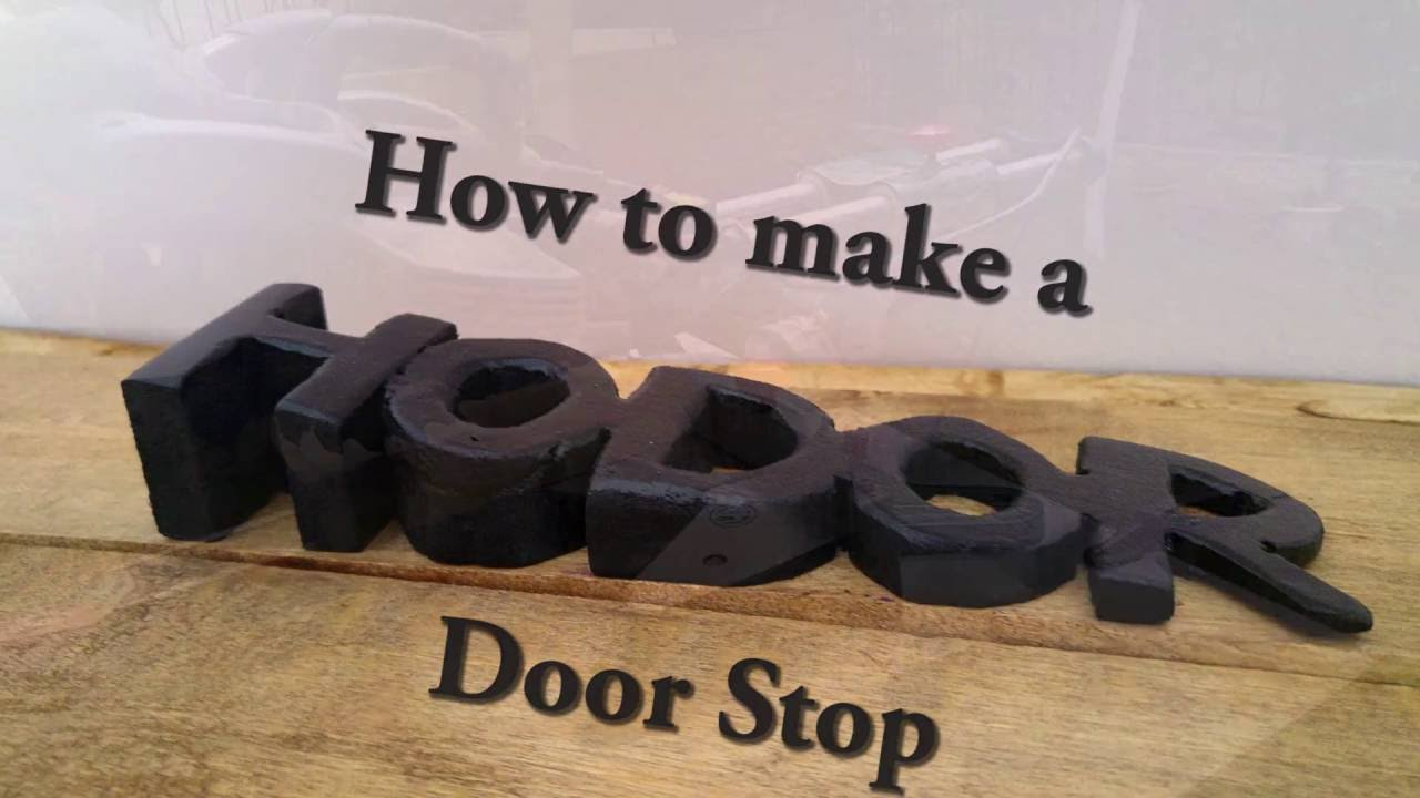 How To Make A Door Stopper.Probably The Most Creative Door Stop Ever How To Youtube