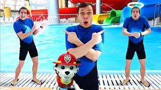 Видео с игрушками - В Аквапарке проблемы! - Щенячий Патруль и Акватим ведут расследование.