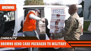 Baker & Teammates Send Care Packages to Military | Cleveland Browns