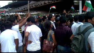 People enthused by Chak De India song at Freedom Park