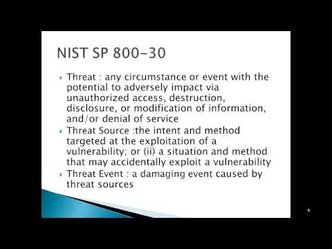 NIST SP 800 30