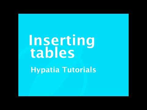 Tutorial   Inserting tables