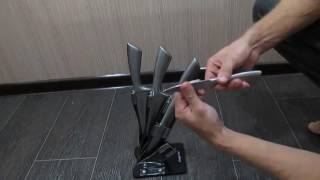 Лучшие недорогие кухонные ножи! нож для кухни Обзор набора Kamille