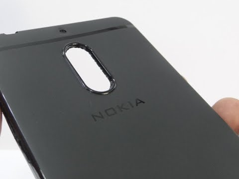 finest selection e5b49 f6a02 i-black Premium Black Back Case Cover For Nokia 6