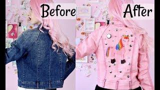 DIY Pastel Goth Denim Jacket/ Unicorn Jacket2