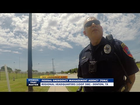 First Amendment Audit - FEMA Regional HQ - Denton TX