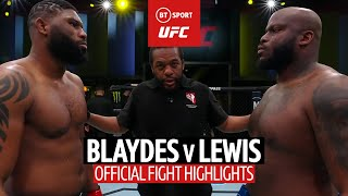 Stunning one-shot KO! Curtis Blaydes v Derrick Lewis UFC Fight Highlights