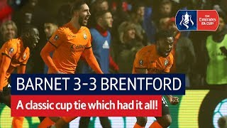 Barnet vs Brentford (3-3) | Emirates FA Cup Highlights