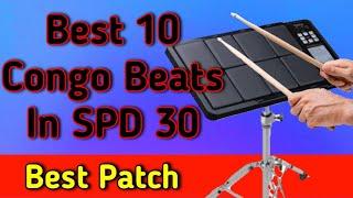 Best 10 Western Beats on Octapad   Roland Spd 30   Congo Rhythms SPD 30   Tanwar Technical Music  