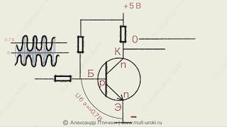 Как работает транзистор? Режим ТТЛ логика / Усиление. Анимационный обучающий 2d ролик. / Урок 1