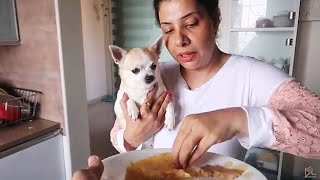 Dogs React to Food Cooked By Husband | Ss Vlogs :-)