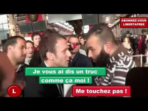 """Macron traité de """"bon à rien"""" par un marseillais à Marseille [ Fillon Mélenchon Hamon le pen ]"""