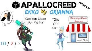 Apallocreed | Ekko vs Orianna mid Ranked Patch 8.14